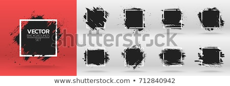 abstract ink splatter grunge banners set design Stock photo © SArts