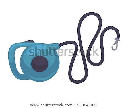 Retractable lead vector flat icon Stock photo © smoki