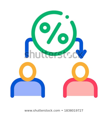 Lend Money Human Icon Vector Outline Illustration Stock photo © pikepicture