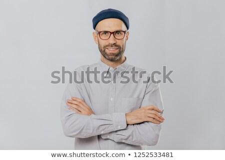 Horizontal tiro satisfeito masculino estilista elegante Foto stock © vkstudio