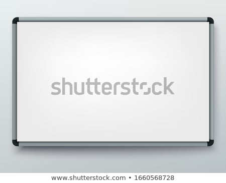 Whiteboard for markers. Presentation, Empty Projection screen. Office board background frame Stock photo © Andrei_