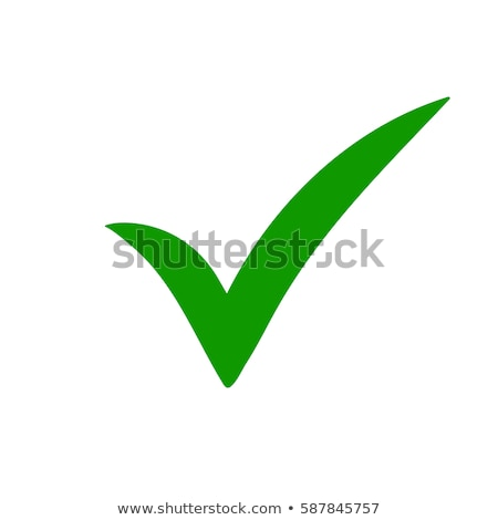 Green tick check mark or confirm icon. Stock vector illustration isolated on white background. Stock photo © kyryloff