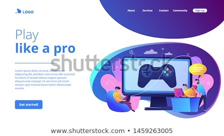 Esports coaching concept landing page Stock photo © RAStudio
