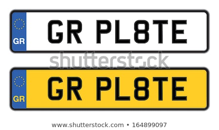 Grieks auto registratie plaat teken Stockfoto © Hofmeester