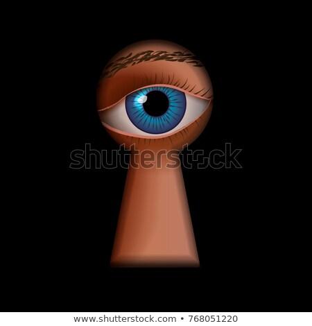 Anahtar deliği biçim insan göz arkasında casus Stok fotoğraf © evgeny89