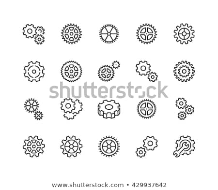 Gear Simple Vector Icon, Cog Wheel Pictogram, Settings Symbol, Engine Gear Wheels Stock photo © supertrooper