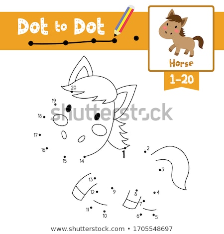 counting animals educational game coloring book page Stock photo © izakowski