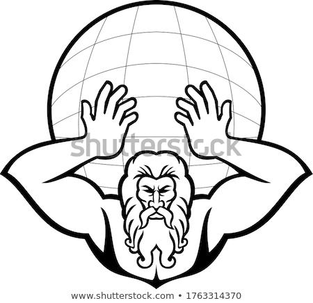 Głowie atlas grecki boga front widoku Zdjęcia stock © patrimonio