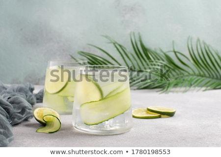 cetriolo · cocktail · alimentare · vetro · energia · colore - foto d'archivio © fanfo