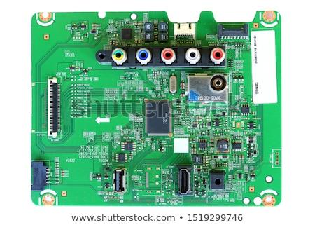 çok farklı elektronik yalıtılmış beyaz bilgisayar Stok fotoğraf © Borissos