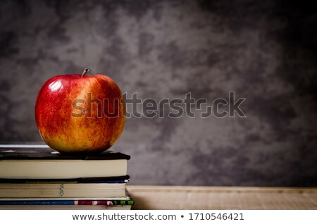 book & red apple Stock photo © mikdam
