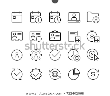 6 folder icons Stock photo © gaudiums