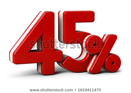 Stockfoto: Veertig · procent · korting · cijfers · 40