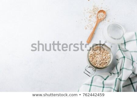 Zab pelyhek bögre ízletes nagy üveg Stock fotó © stevanovicigor