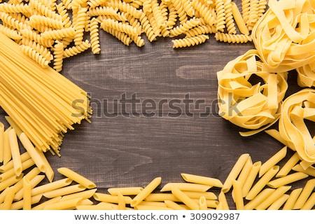Tagliatelle makarna üç farklı İtalyan gıda Stok fotoğraf © sirylok