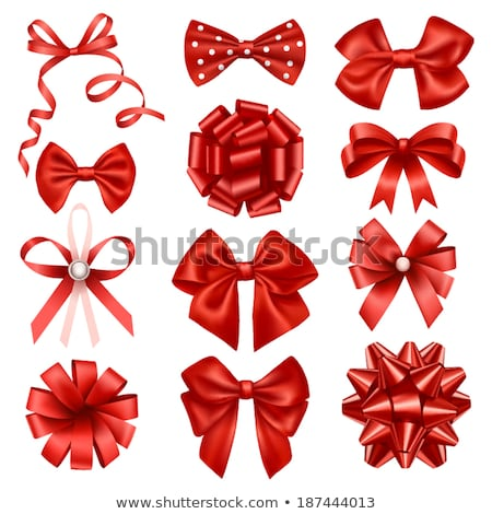 Red bow in a hair Stock photo © AGorohov