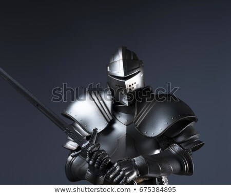man in shining armour stock photo © photography33