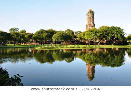 Tapınak sel su ağaç doğa manzara Stok fotoğraf © Witthaya