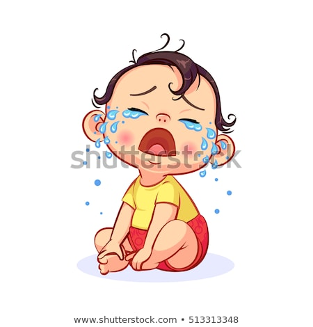 Baby Crying Vector Stock photo © indiwarm