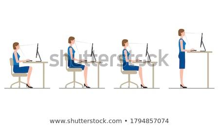 üzletasszony bámul nő munka haj öltöny Stock fotó © photography33