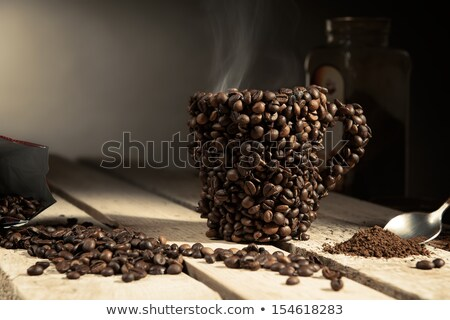 coffee cup made from beans stock photo © karandaev