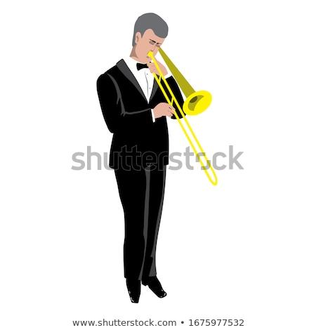 Young Trombone Player Stock photo © shyshka