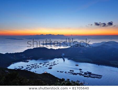 Elektromos erőmű sziget Hongkong felhők természet tenger Stock fotó © kawing921