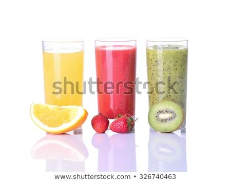Strawberry, orange and kiwi juice Stock photo © broker