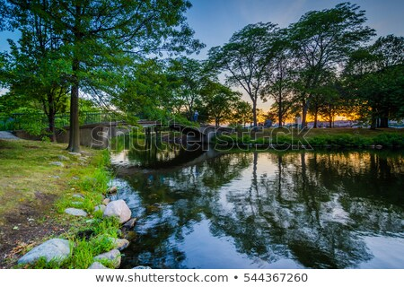 boston scenery with charles river stock photo © prill