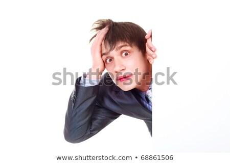 молодые · бизнесмен · костюм · рабочих · портативного · компьютера - Сток-фото © sumners