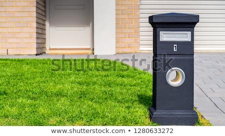 Pierre boîte aux lettres maison mur fond mail Photo stock © Marcogovel