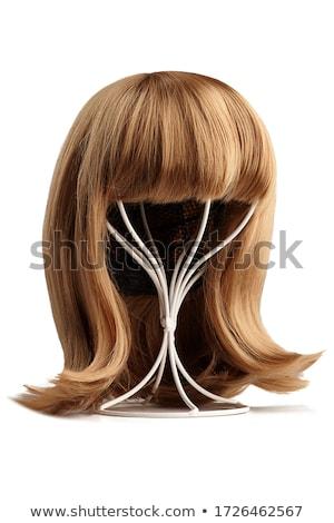 Pruik vrouwelijke haren geïsoleerd witte mode Stockfoto © kitch