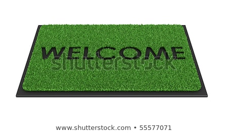 Welcome mat isolated over white stock photo © ozaiachin