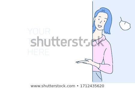 женщину · белый · девушки · улыбка · молодые - Сток-фото © Nobilior