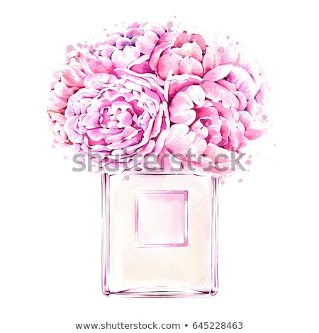 perfume bottle and flower Stock photo © prill