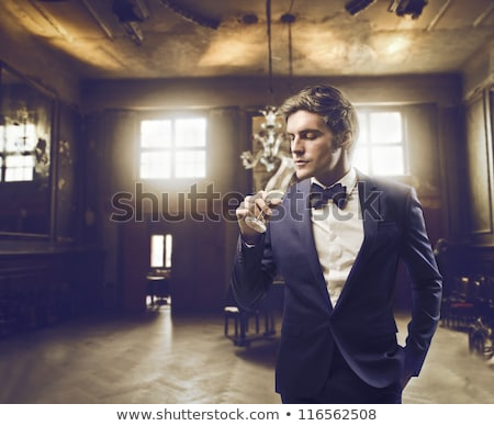Elegant man drinking champagne Stock photo © photography33