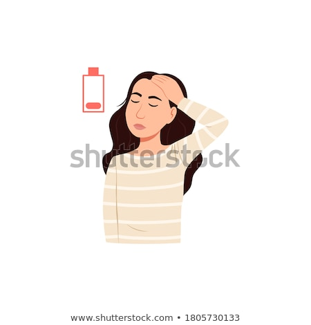 portrait of tired young woman isolated stock photo © acidgrey