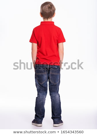 young boy standing stock photo © get4net