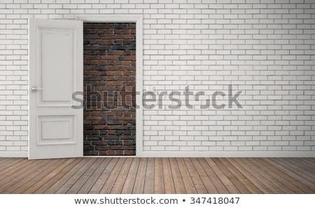 нет бежать вход здании стены фон Сток-фото © mikdam
