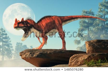 Dinossauro lua fundo retrato preto digital Foto stock © mariephoto