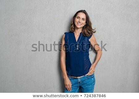 mutlu · kadın · bakıyor · takı · alışveriş · pencere - stok fotoğraf © dotshock