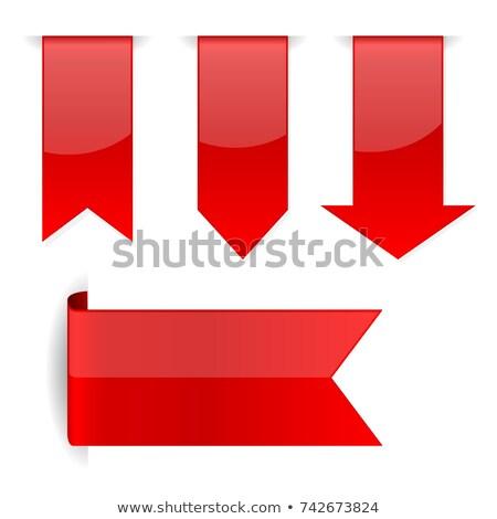 szett · piros · papír · nyilak · háló · nyíl - stock fotó © Genestro