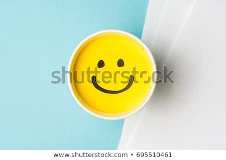 Job with smiley emoticon Stock photo © Melpomene