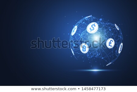 globe with currency symbols in abstract background stock photo © 4designersart