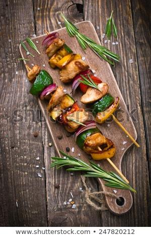 zöldségek · hús · konyhapult · szelektív · fókusz · konyha · pult - stock fotó © ozgur