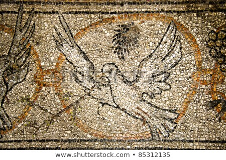 mosaico · Gesù · Cristo · esterno · antica · monastero - foto d'archivio © eldadcarin