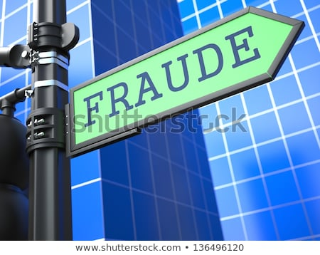 Fraude palabra signo tecnología web azul Foto stock © tashatuvango