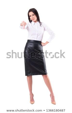 Woman in leather skirt stock photo © iofoto
