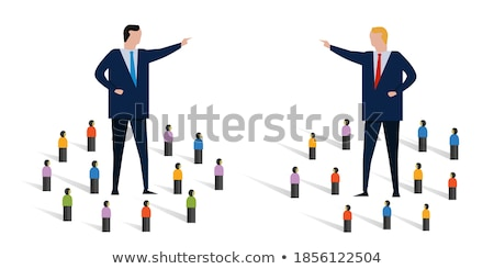 Two divided groups of people Stock photo © stevanovicigor