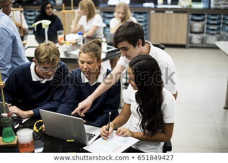 High School students. Group of students working at chemistry cla Stock photo © HASLOO